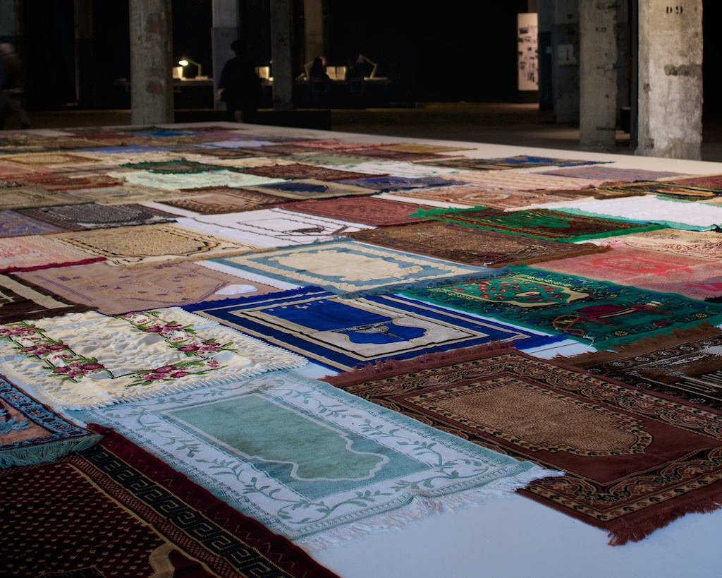 Prayer mats of first generation Turkish immigrants